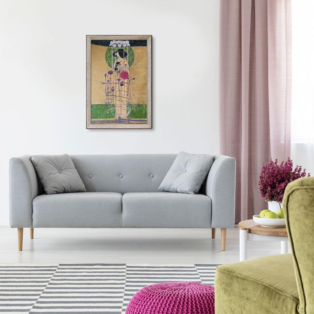 LA PASTICHE 28 in. x 40 in. Design for a Wall Decoration with Silver Luna Frame  by Charles Rennie Mackintosh Framed Wall Art, Multi-Colored was $1246.0 now $586.14 (53.0% off)