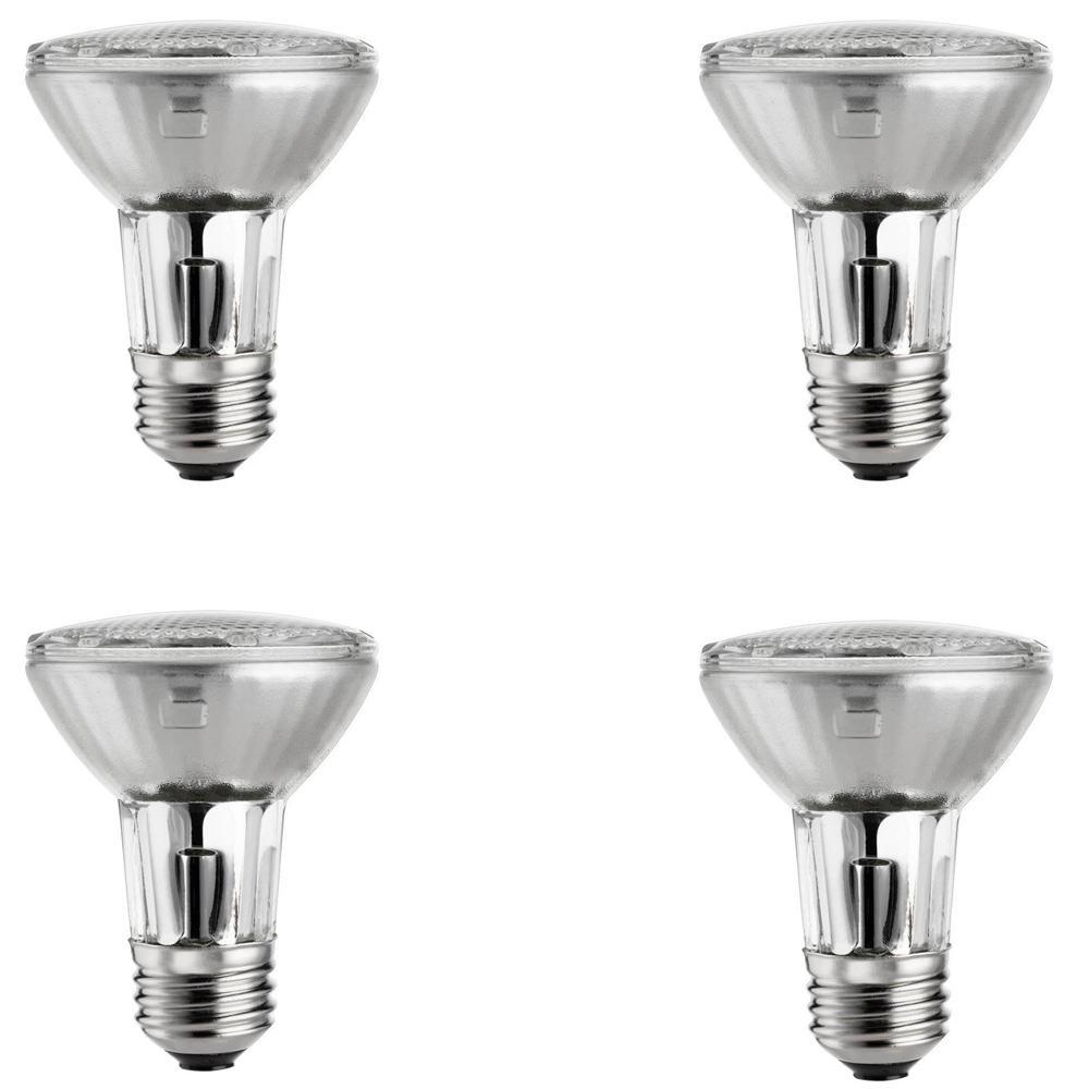 39 Watt Equivalent Halogen Par20 Dimmable Flood Light Bulb 4 Pack