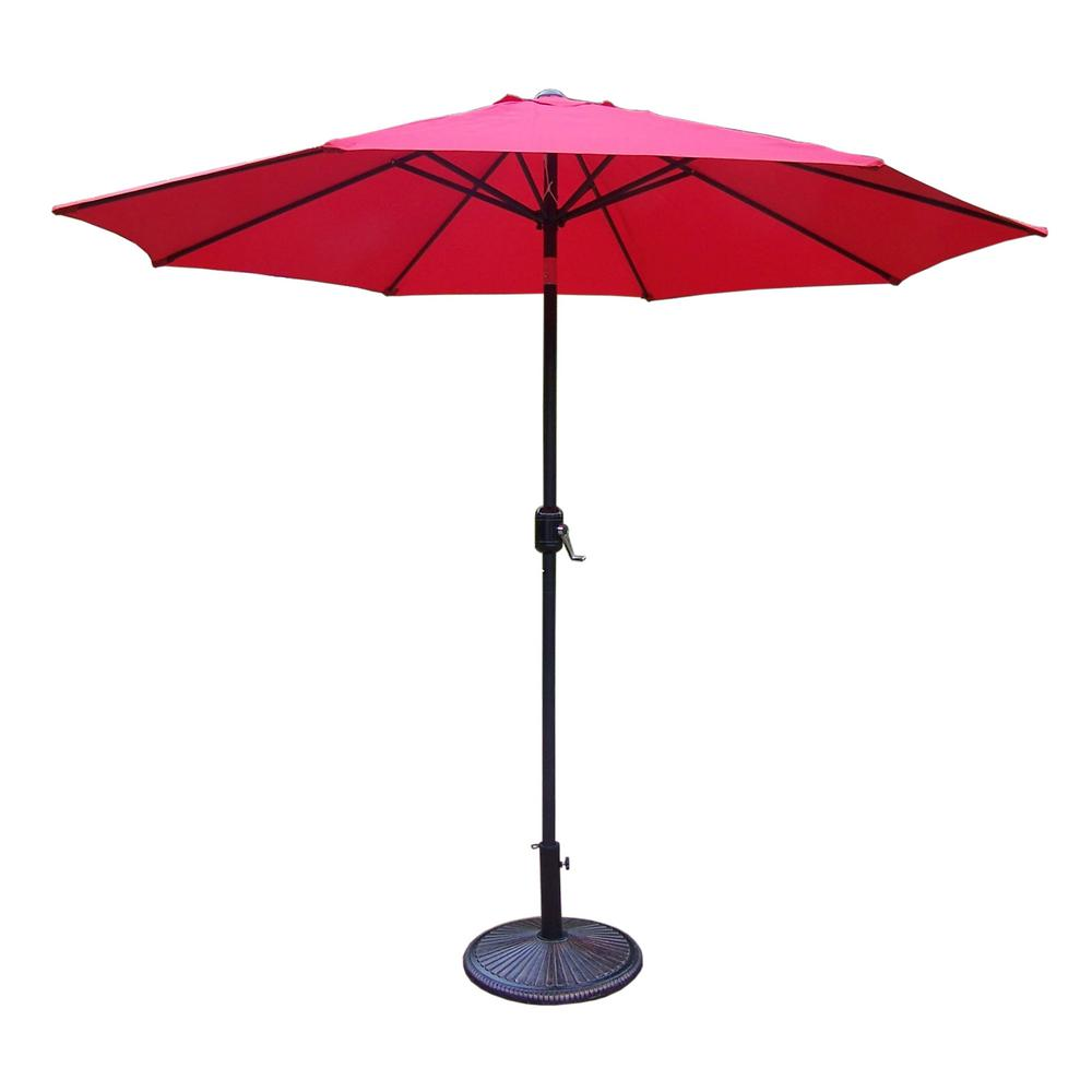 9 ft. tilt patio umbrella with cast iron patio umbrella base 9 Ft Umbrella Base