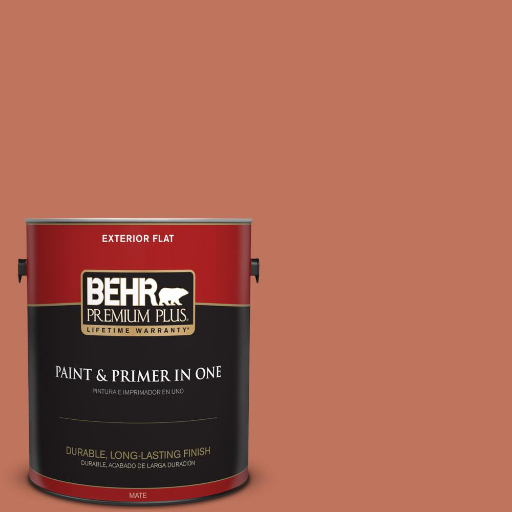 1-gal. #PMD-11 Warm Terra Cotta Flat Exterior Paint