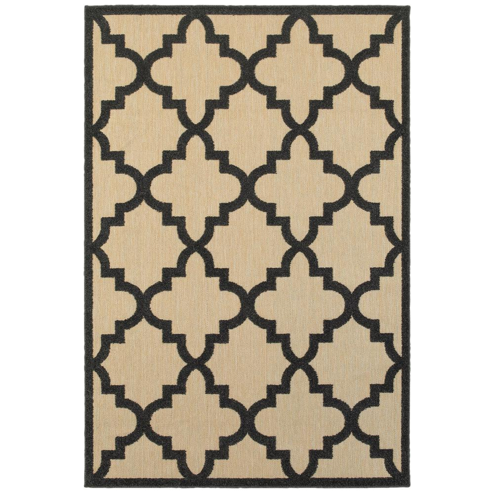 Home Decorators Collection Marina Black 5 ft. x 8 ft. Outdoor Area Rug
