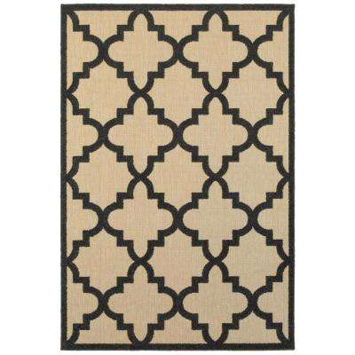 Marina Black 5 ft. x 8 ft. Outdoor Area Rug