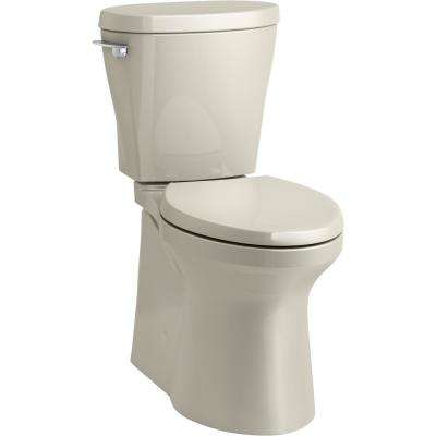 Betello 2-Piece 1.28 GPF Single Flush Elongated Toilet in Sandbar (Seat Not Included)