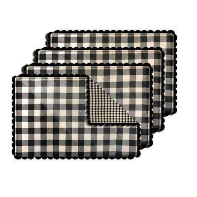 Buffalo Check Black Reversible Placemat (Set of 4)