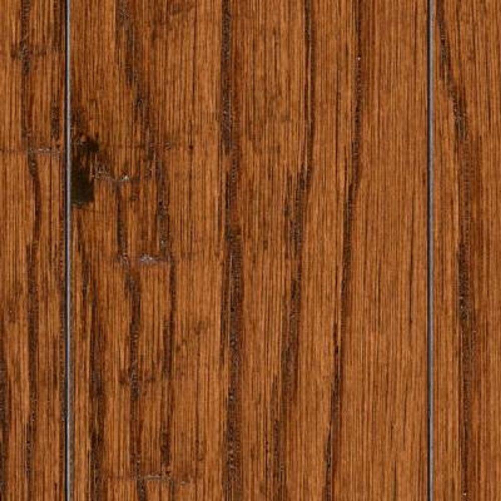 Take Home Sample - Hand Scraped Distressed Mixed Width Arleta Oak Click Lock Hardwood Flooring - 5 in. x 7 in.
