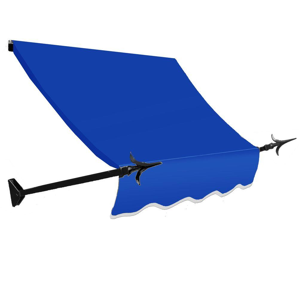AWNTECH 4 ft. New Orleans Awning (44 in. H x 24 in. D) in Bright Blue