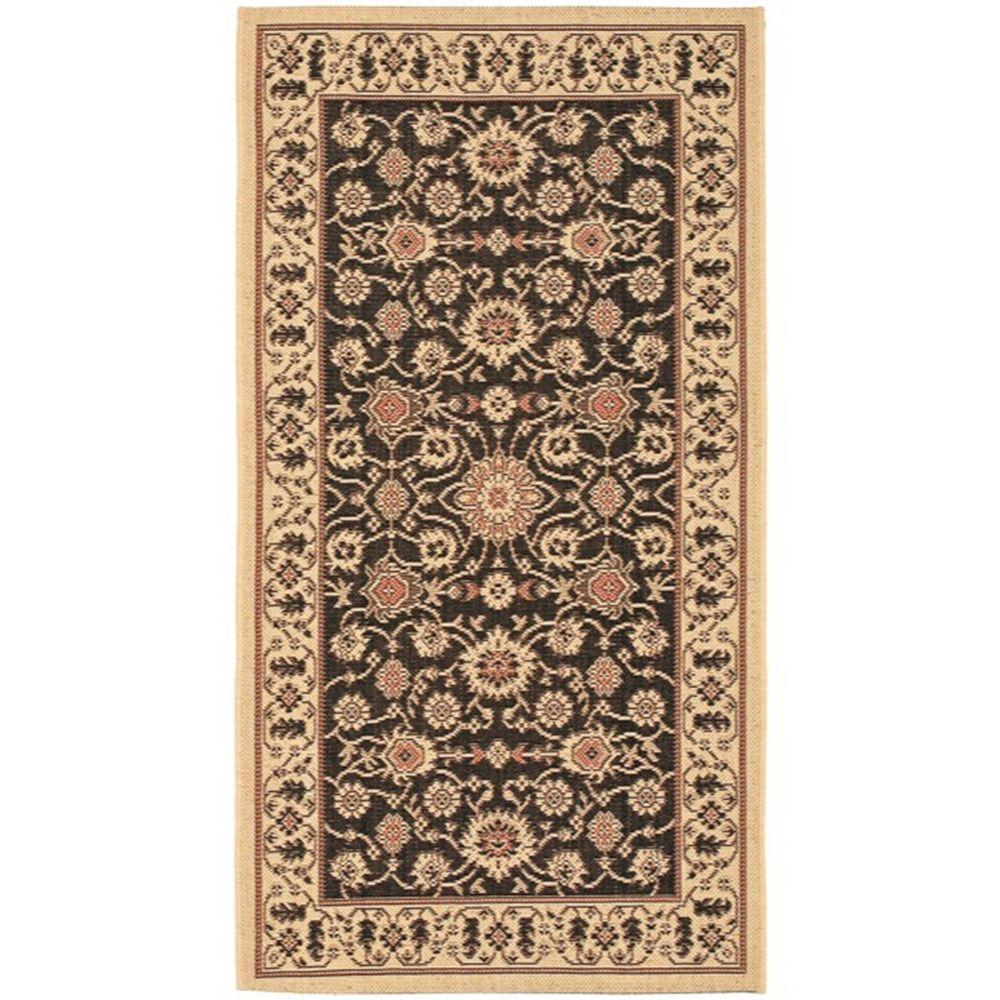 safavieh courtyard black cream 4 ft x 5 ft 7 in indoor outdoor area rug cy6126 26 4 the. Black Bedroom Furniture Sets. Home Design Ideas
