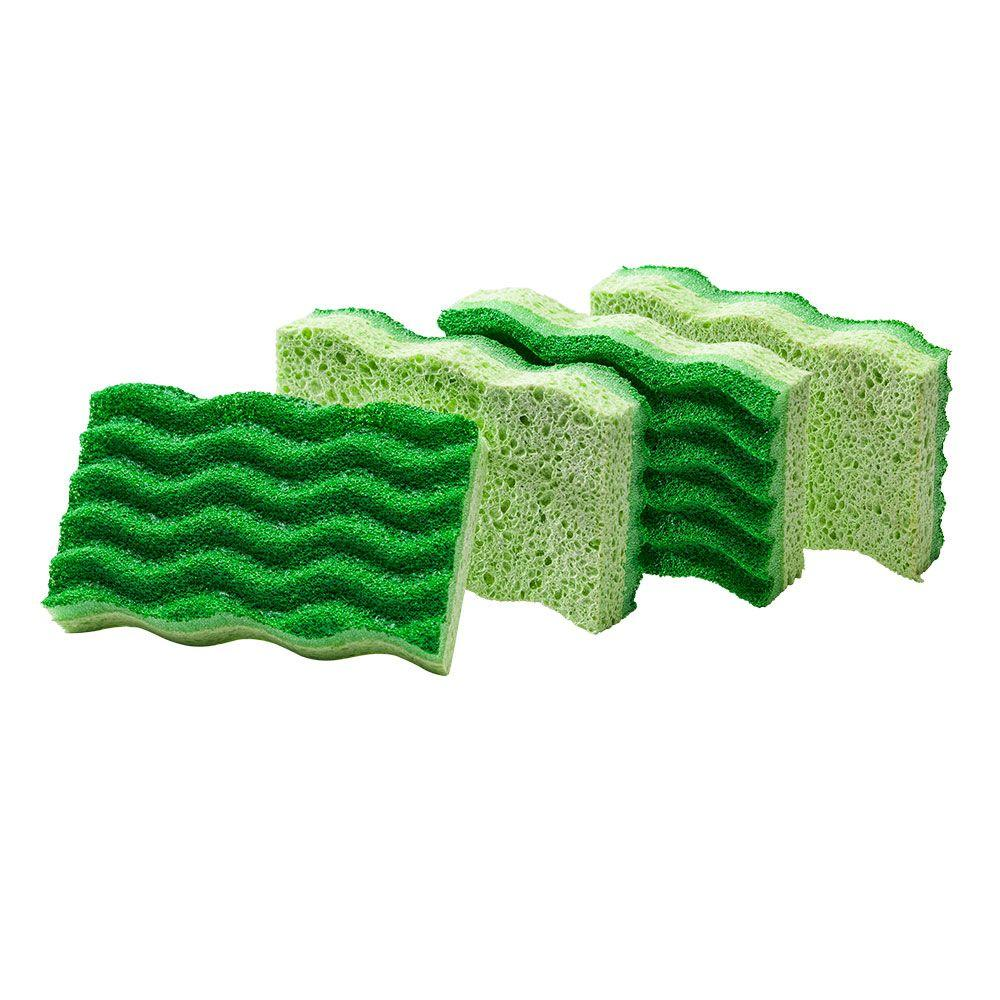 Libman Medium Duty Re-Sealable Sponge (4-Pack)