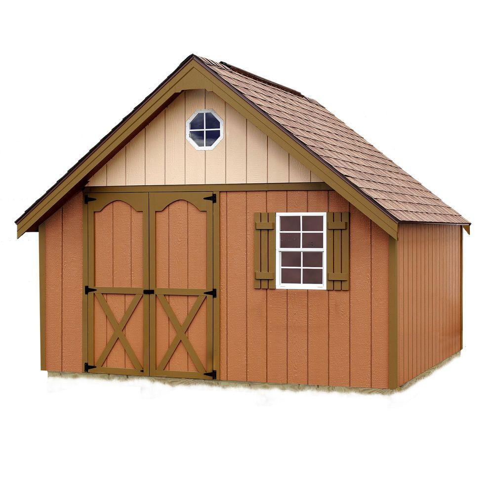 Best Barns Riviera 12 ft. x 16 ft. Wood Storage Shed Kit