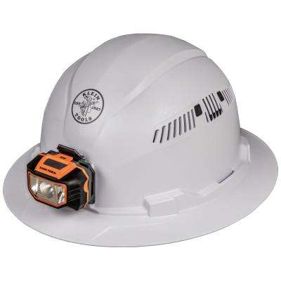 Vented Full Brim with Headlamp Hard Hat