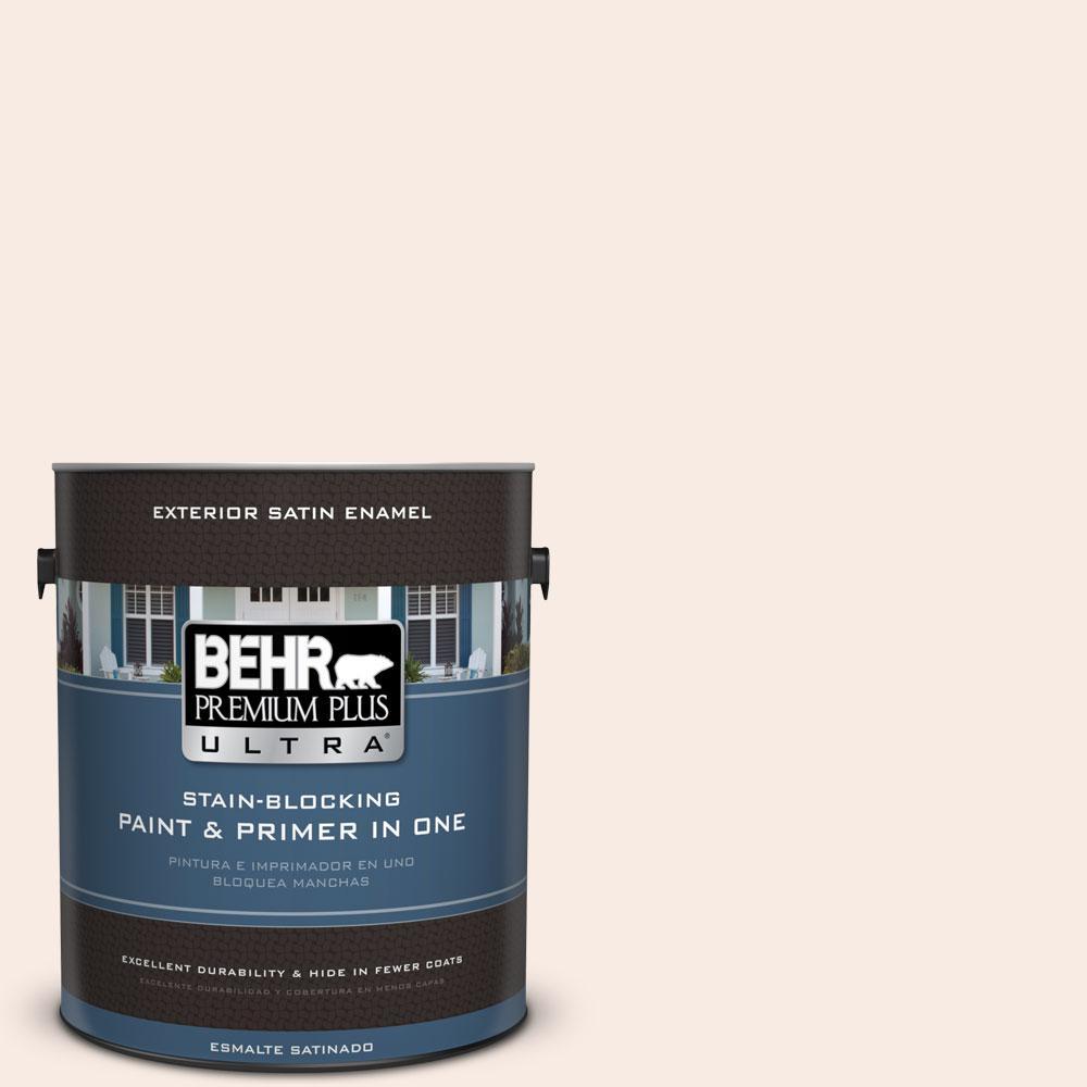BEHR Premium Plus Ultra 1-gal. #210E-1 Bella Pink Satin Enamel Exterior Paint
