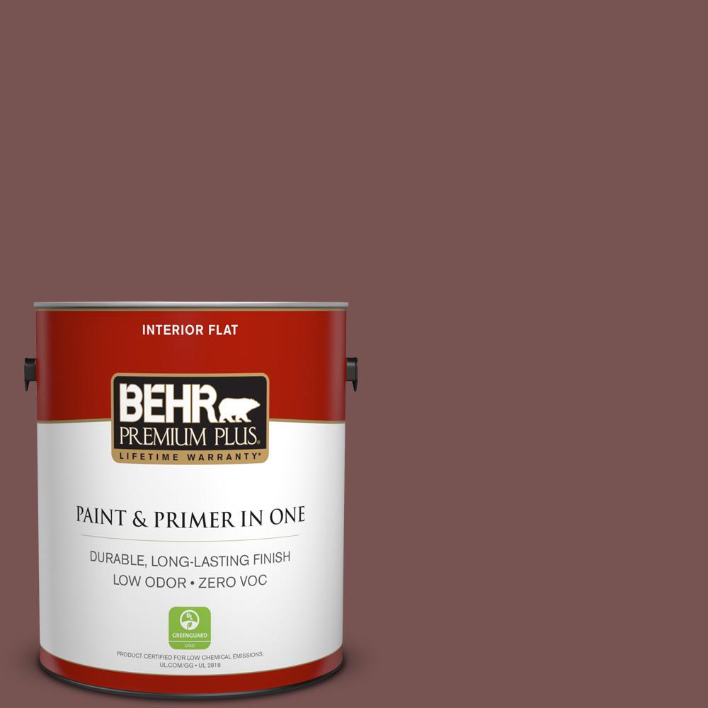 BEHR Premium Plus 1-gal. #700B-6 Sequoia Dusk Zero VOC Flat Interior Paint