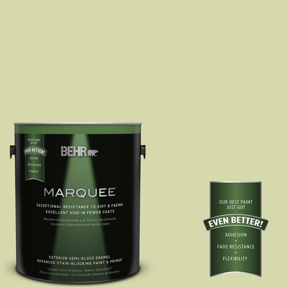 1-gal. #410C-3 Celery Sprig Semi-Gloss Enamel Exterior Paint