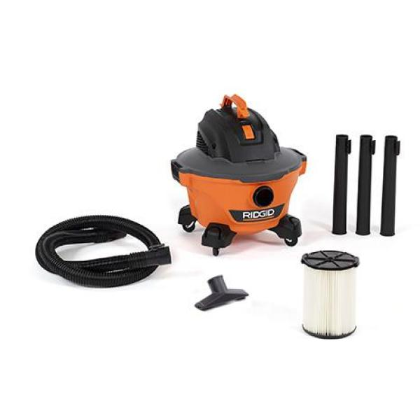 6 Gal. 3.5-Peak HP NXT Wet/Dry Shop Vacuum with Filter, Hose and Accessories