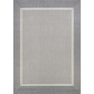 Recife Stria Texture Champagne-Grey 5 ft. x 8 ft. Indoor/Outdoor Area Rug