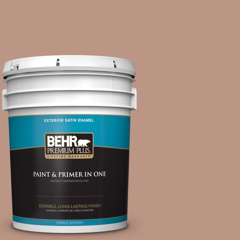 5-gal. #S190-4 Spiced Brandy Satin Enamel Exterior Paint