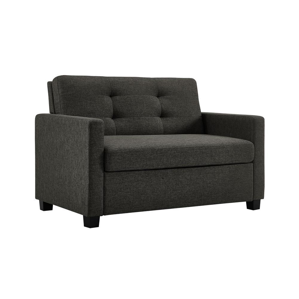 Phenomenal Dhp Donna Grey Linen Twin Sleeper Sofa With Memoir Memory Cjindustries Chair Design For Home Cjindustriesco