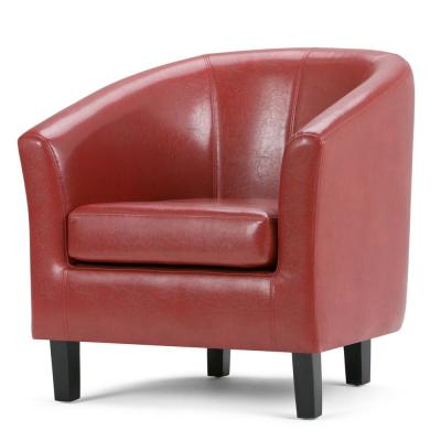 Austin 30 in. Wide Transitional Tub Chair in Red Faux Leather