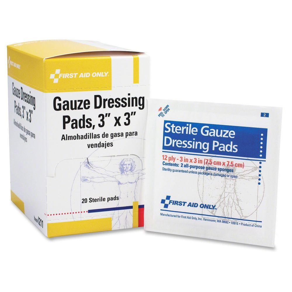 First Aid Only 3 In X 3 In Gauze Pads Dispenser Box Faoi211 The