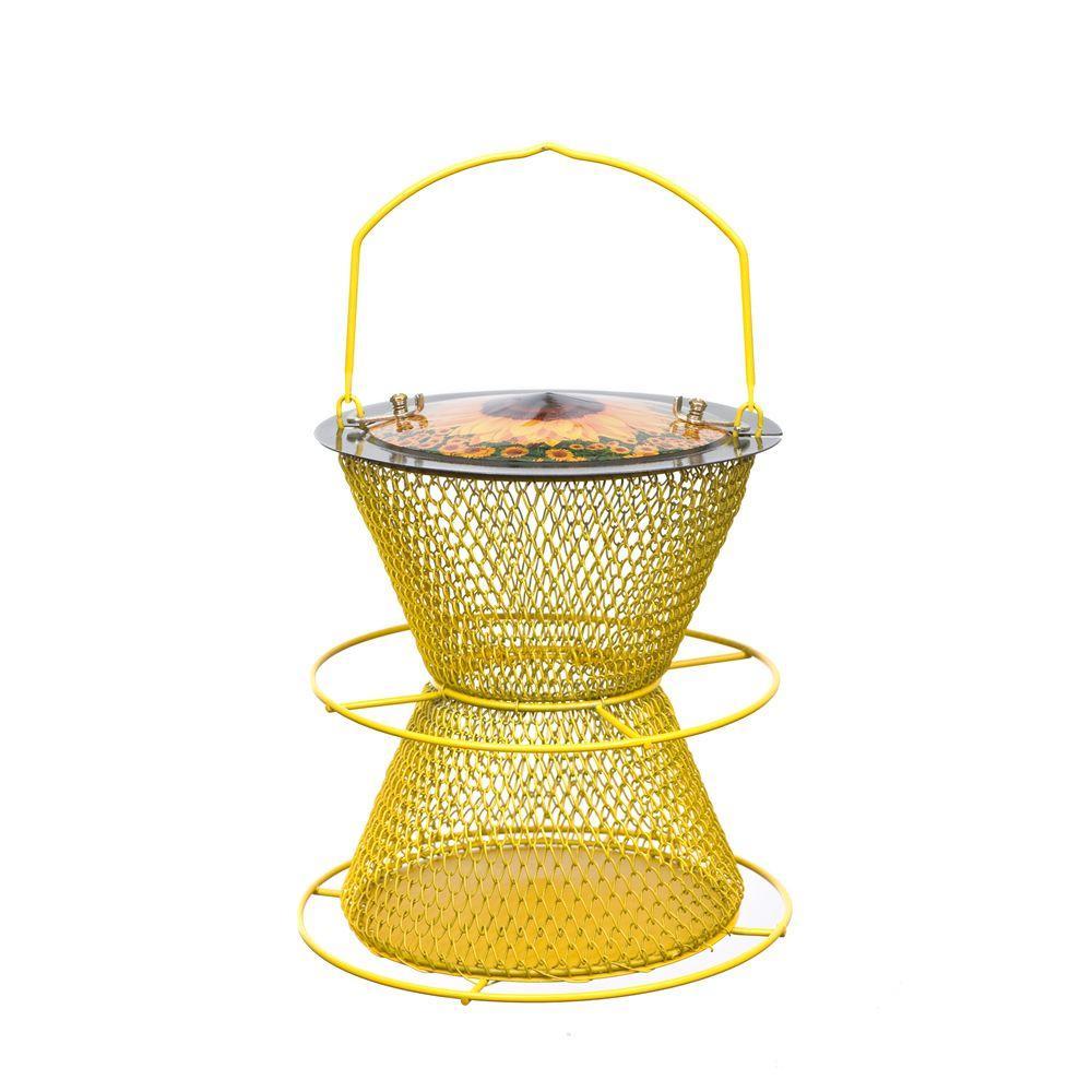 No/No Designer Sunflower 2-Tier Bird Feeder with Perch Ring
