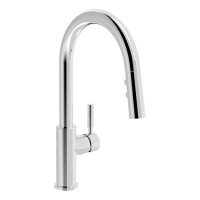 Dia Single-Handle Pull-Down Sprayer Kitchen Faucet in Polished Chrome