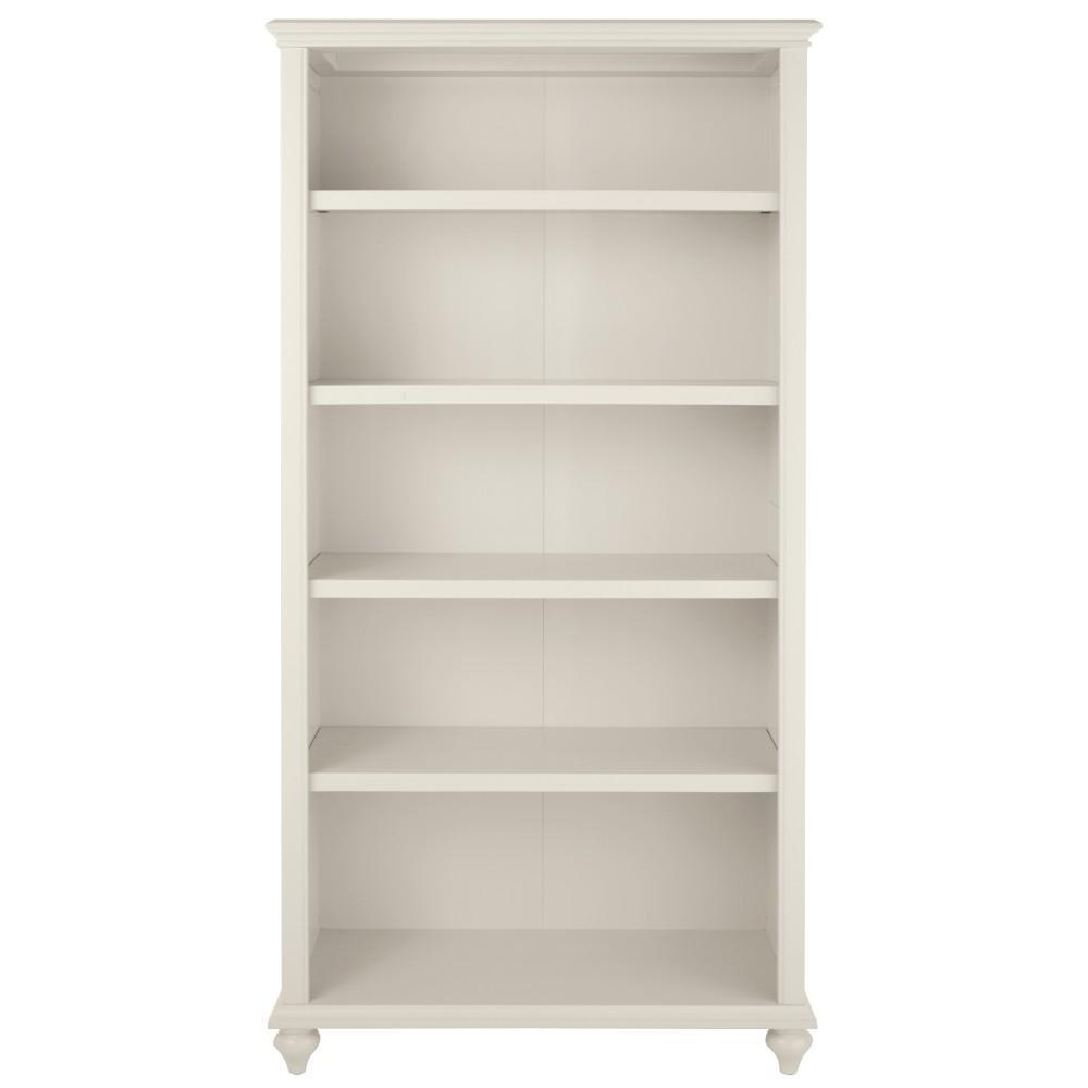 home decorators collection hamilton 5 shelf polar white open bookcase 9787000410 the home depot. Black Bedroom Furniture Sets. Home Design Ideas