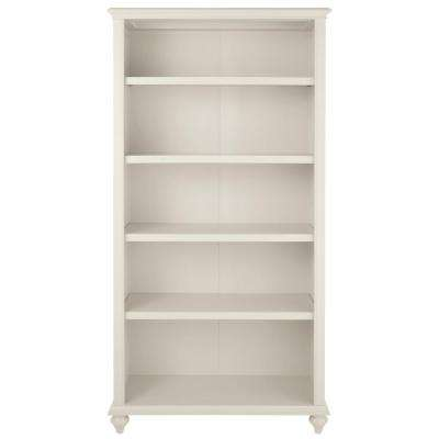 Hamilton 5-Shelf Polar White Open Bookcase