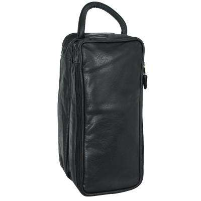 Black Shoe Bag Faux Leather