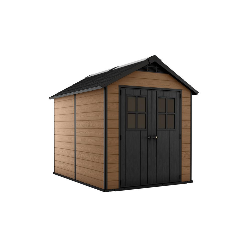 Keter Newton 7.5 ft. x 9 ft. Resin Storage Shed