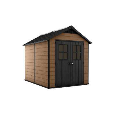 Newton 7.5 ft. x 9 ft. Resin Storage Shed