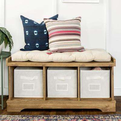 Barnwood Storage Bench