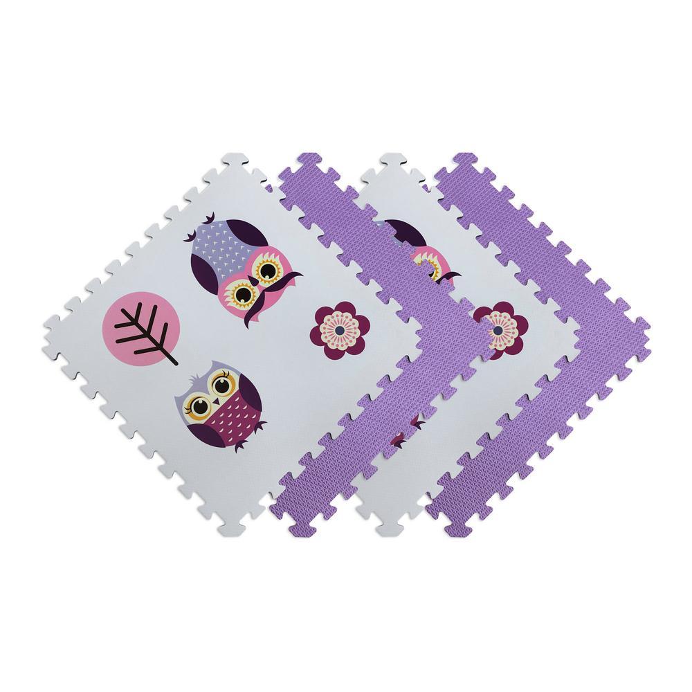 Norsk Reversible Owls/Purple Children's Designer 24 In. X