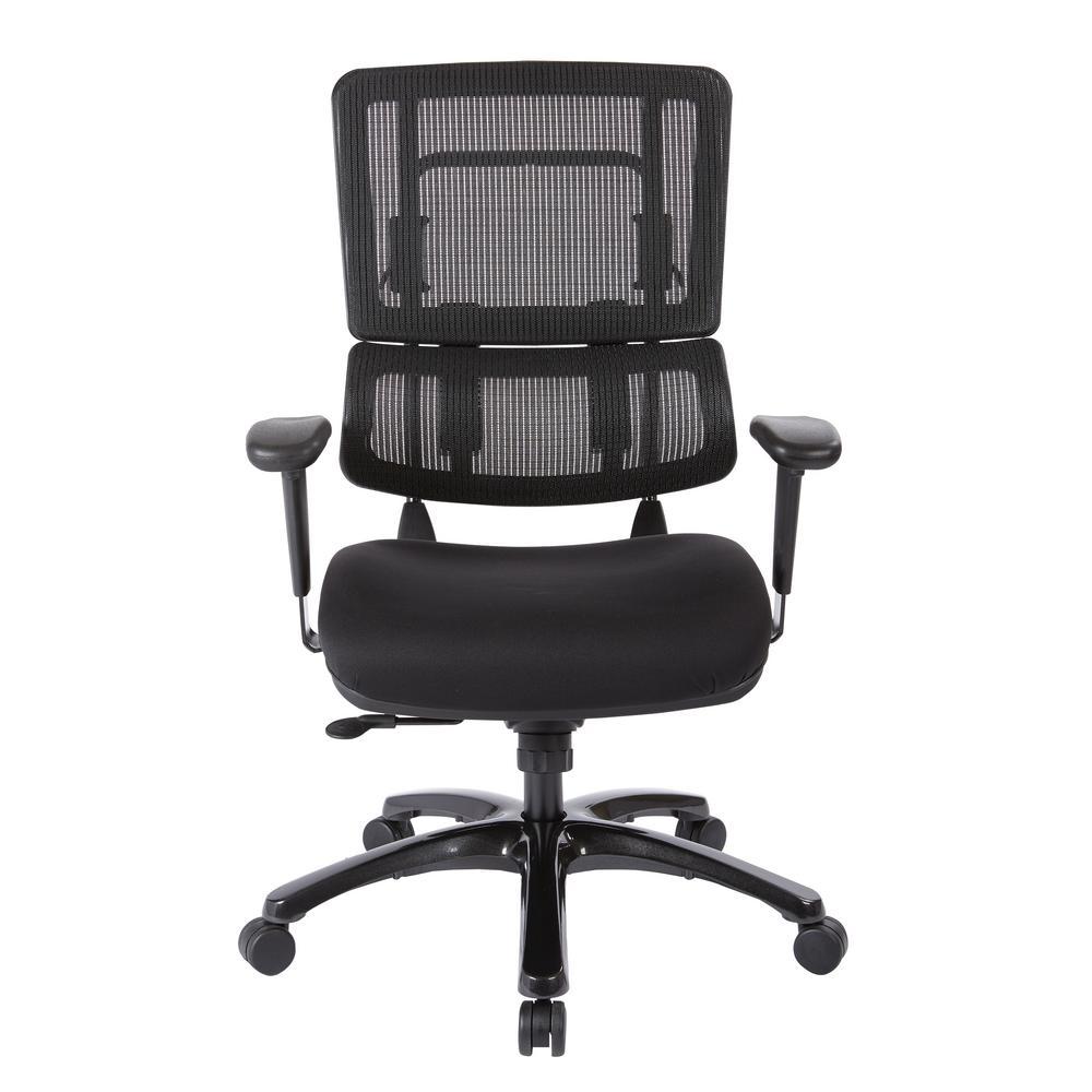 Pro Line Ii Black Mesh Vertical Back Office Chair