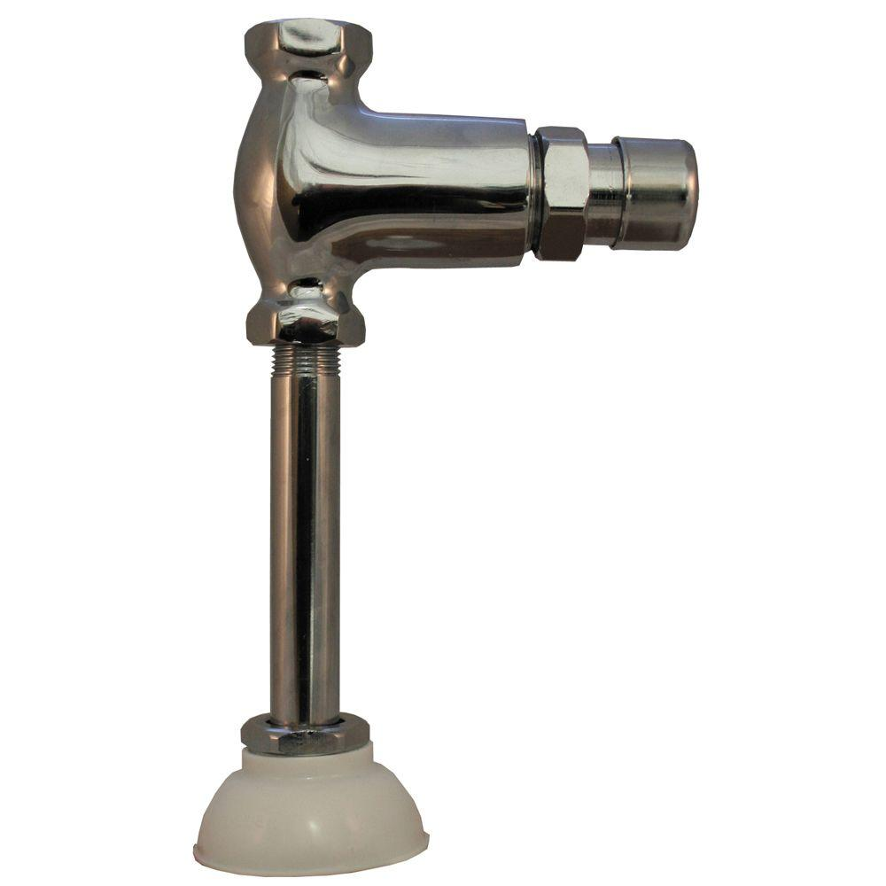 1/2 in. x 3/8 in. Cast Metal Push Button Urinal Flush
