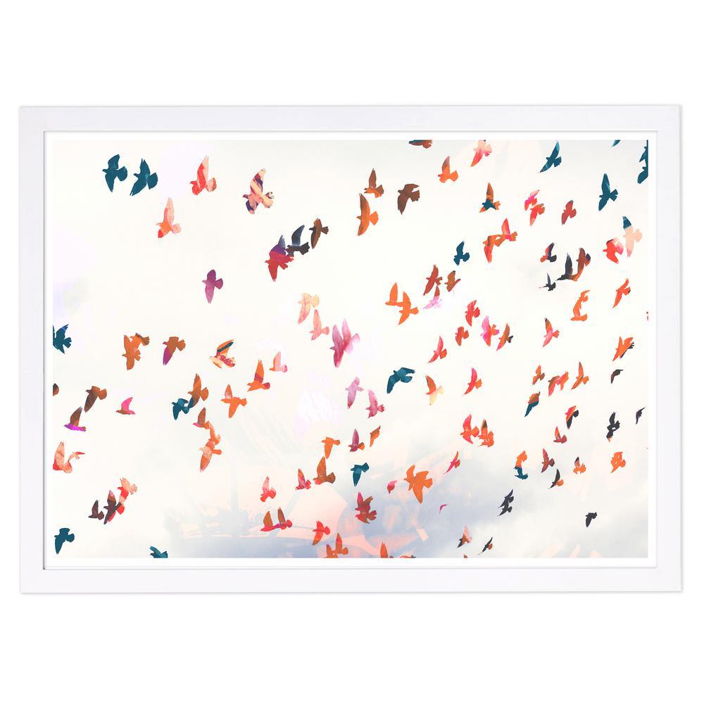Birds in the Fall' by Wynwood Studio Framed Animal Art Print 13 in. x 19 in.