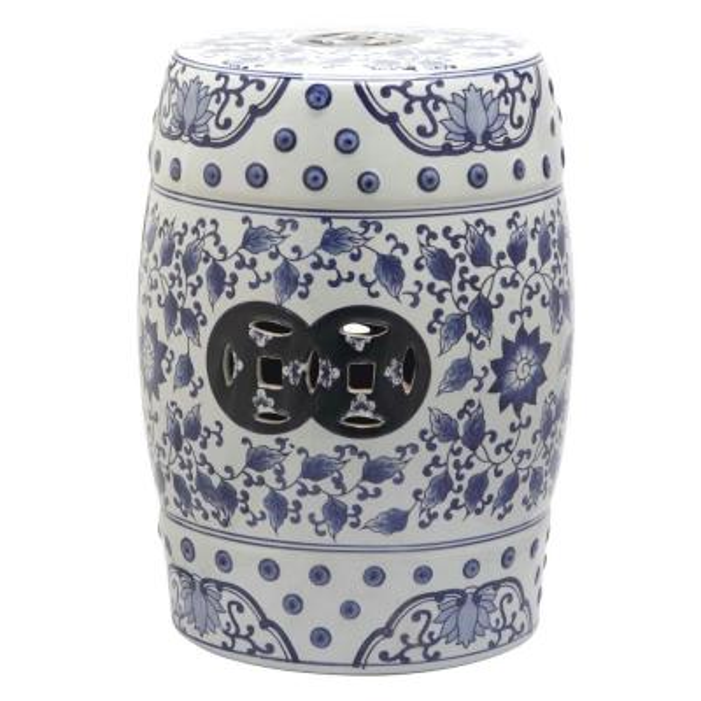 Tao Blue/White Ceramic Garden Stool