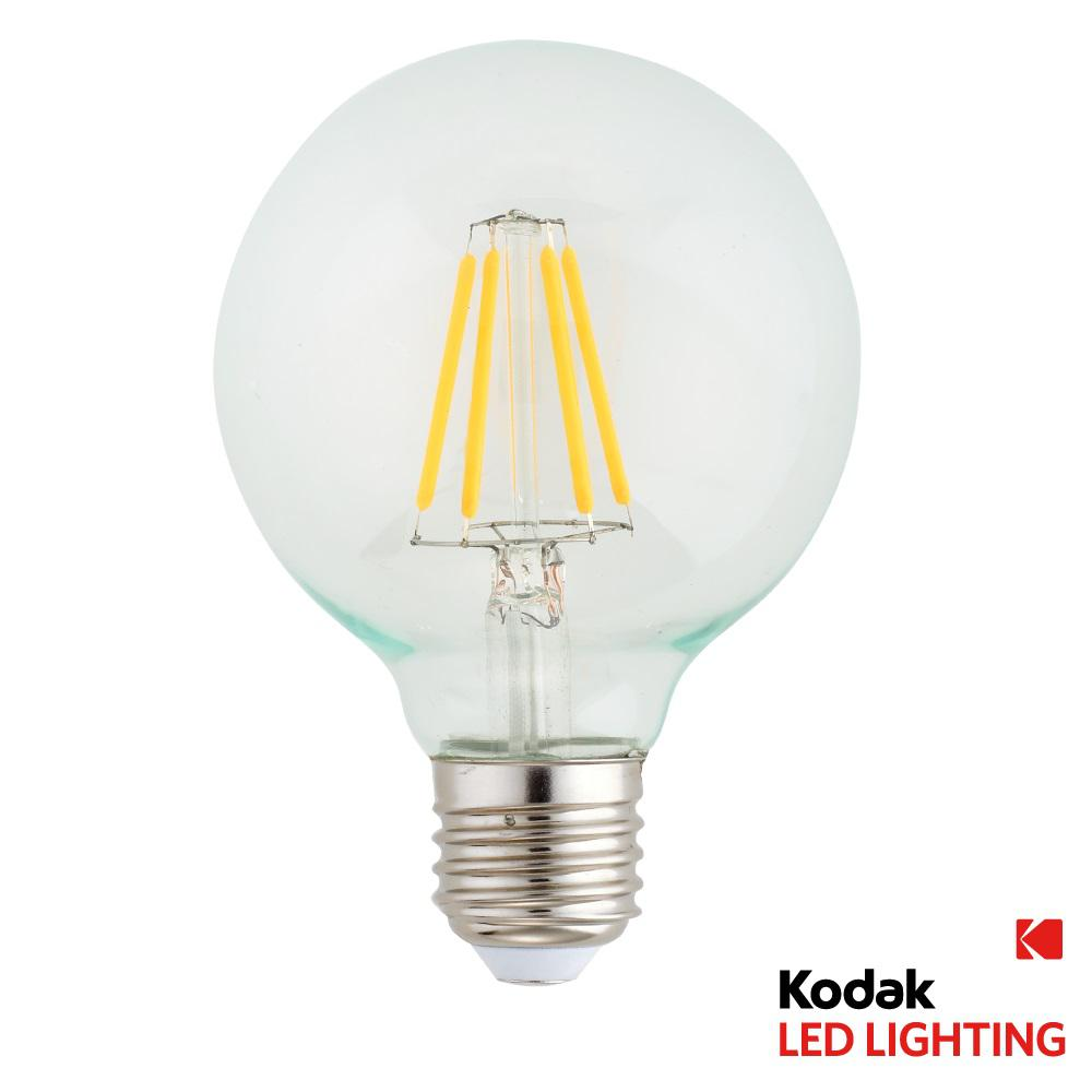 Kodak 40w Equivalent Warm White G80 Globe Dimmable Led Light Bulb 41084 The Home Depot