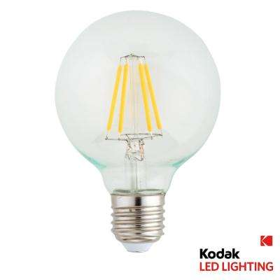 40W Equivalent Warm White G80 Globe Dimmable LED Light Bulb