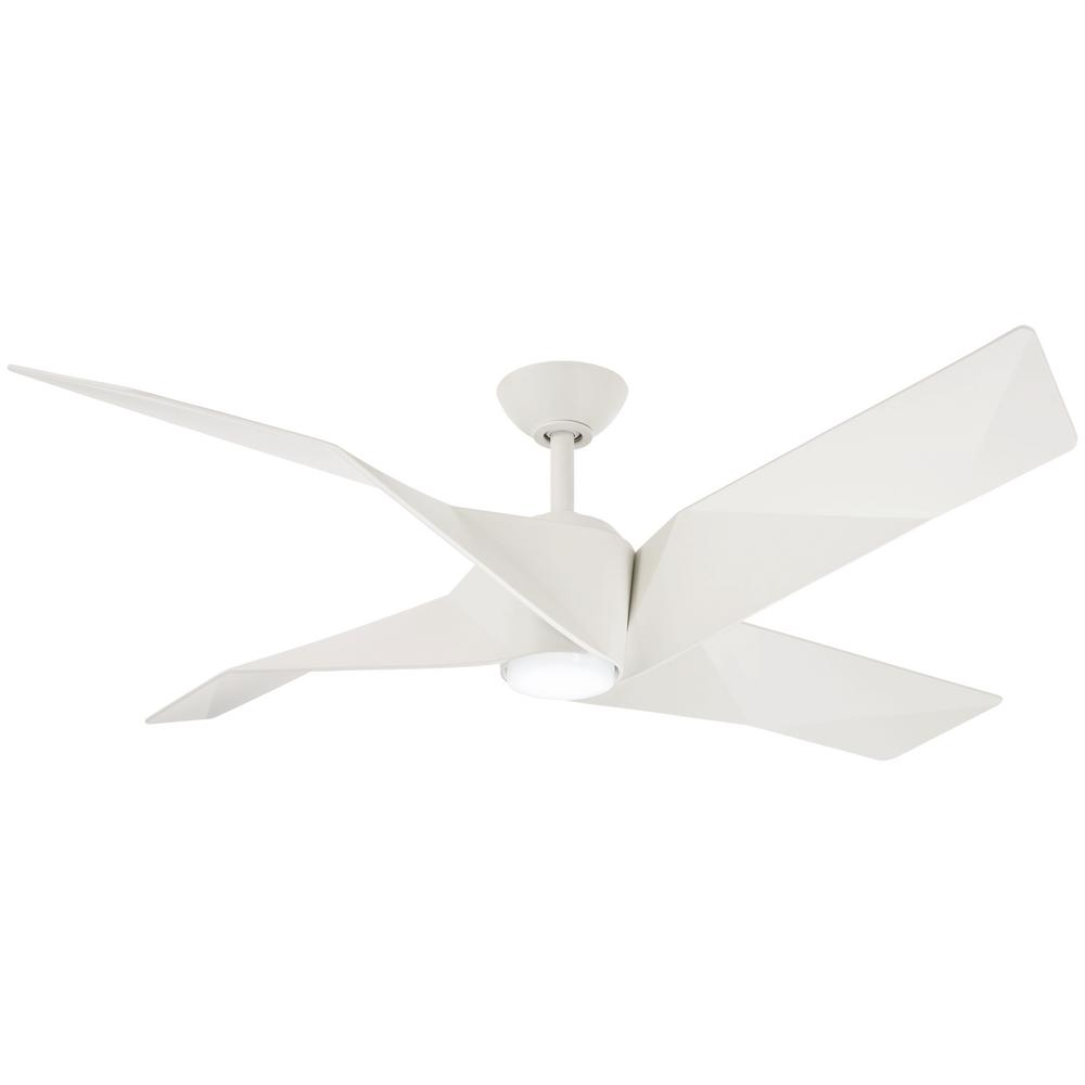 Aire a Minka Group Design Welkin 56 in. Integrated LED Indoor Flat White Ceiling Fan with Light