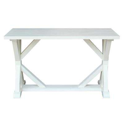 Modern Farmhouse Distressed Seashell Console Table