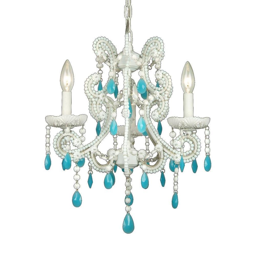 Glam blue lighting the home depot xavier 3 light blue chandelier aloadofball Gallery