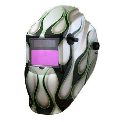 8700SGC Silver Flame 9 -13 Shade Auto Darkening Welding Helmet  With 3.82 in. x 1.85 in. viewing area