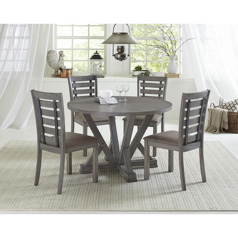 Fiji Harbor Gray Round Dining Table