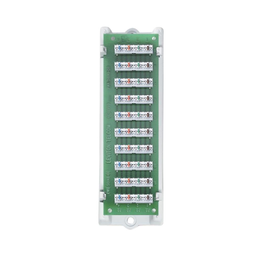 Leviton 1x9 Structured Media Bridged Telephone Module with Bracket ...