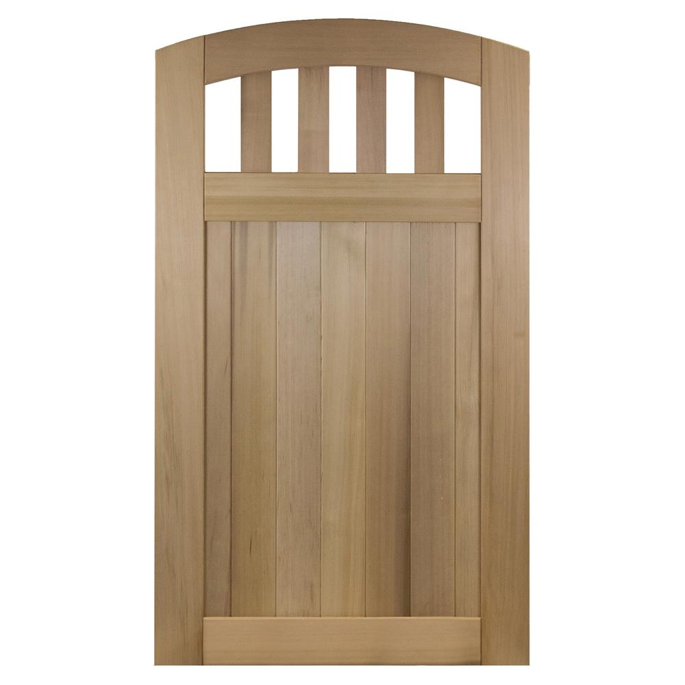 Rose City 3 5 Ft X 6 Ft 100 Solid Cedar Wood Fence Gate