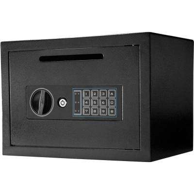 0.56 cu. ft. Steel Compact Keypad Depository Safe, Black