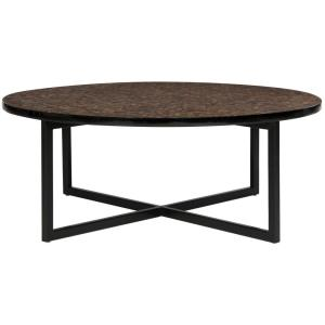 Cheyenne 40 in. Rust/Multi-Colored Medium Round Acrylic Coffee Table with Storage