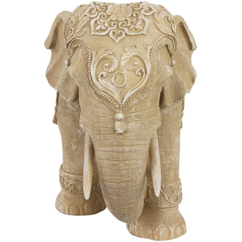Oriental Furniture Oriental Furniture 20 In Rustic Jeweled Elephant Decorative Statue Sta Eleph2 The Home Depot