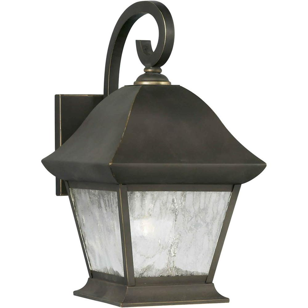 Talista Burton 1-Light Outdoor Royal Bronze Wall Lantern