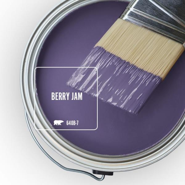 Reviews For Behr Marquee 5 Gal 640b 7 Berry Jam Satin Enamel Exterior Paint Primer 945305 The Home Depot